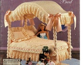 Crochet Canopy Bed Fashion doll Collector Furniture vol. 1