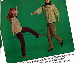 Barbie Fashion Doll  Wardrobe Knit and Crochet Doll Clothes Pattern McCall's CB/8103