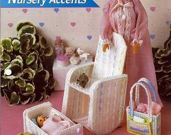 Nursery Accents Fashion Doll Furniture Plastic Canvas Pattern Annie's plastic canvas club FP24-01