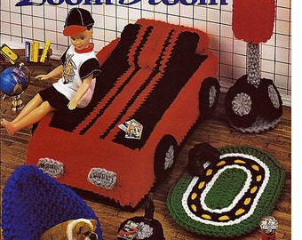 Bubba's Zoom Room, Barbies Brothers Room Crochet Furniture Pattern Annies Attic  547B