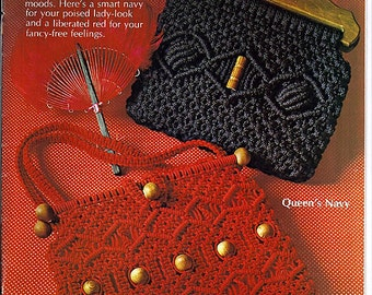 The Macrame Pursemaker 14 Attractive Designs: Macrame Pattern Book 7228
