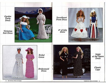 Fashion Doll Special Occassions Crochet Pattern Annies Attic 87D19