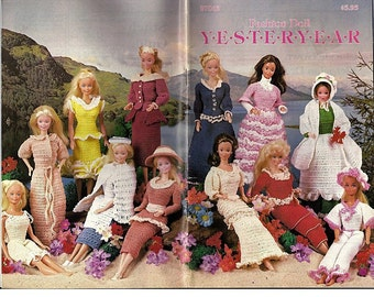 Fashion Doll YesterYear Crochet Pattern for Barbie Annies Attic 87D13