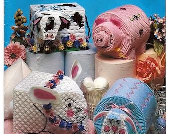 Bathroom Tissue Pets Plastic Canvas Pattern American School of Needlework 3169