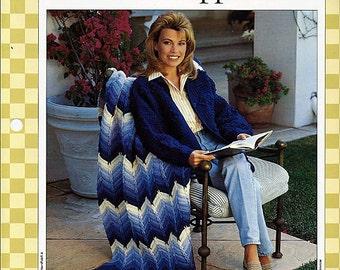 Blue Ripple Crochet Pattern 85040-A
