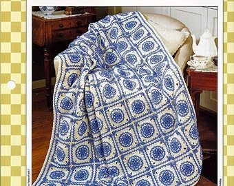Blue Delft Crochet Pattern 85070-C