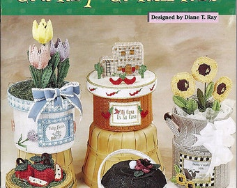 Country ContainersPlastic Canvas Pattern  The Needlecraft Shop 993076