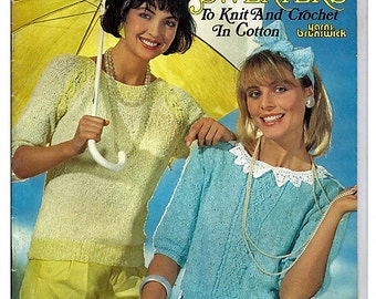 Sunshine Sweaters to  Knit and Crochet in Cotton Pattern Volume 873