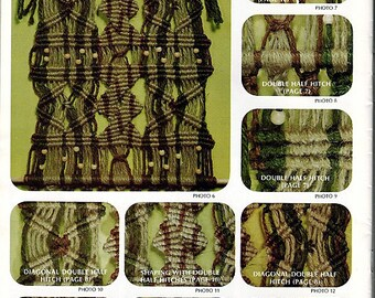 Basic Macrame Instructions  Macrame Pattern Book no. 9641