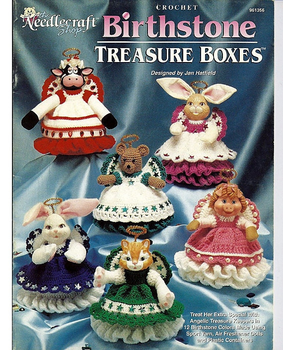 Birthstone Treasure Boxes Crochet Pattern Book - The Needlecraft Shop 9613556