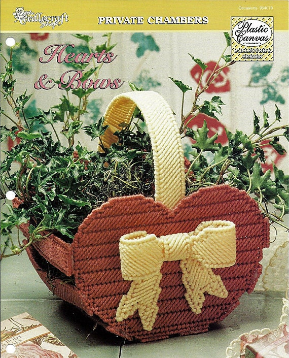 Hearts & Bows Basket Private Chambers The Needlecraft Shop 954019