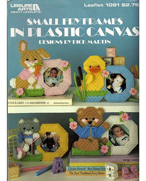 Small Fry Frames in Plastic Canvas Patterns Leisrue Arts Leaflet 1081