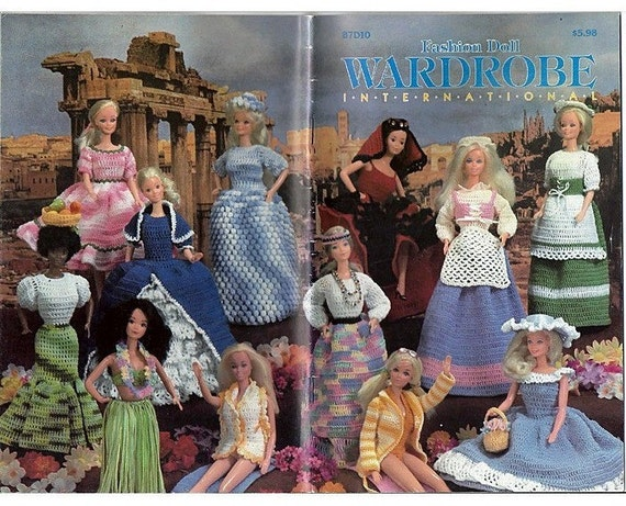 Fashion Doll Wardrobe International -Crochet Pattern Fits Barbie - Annie Pattern Club 87D10