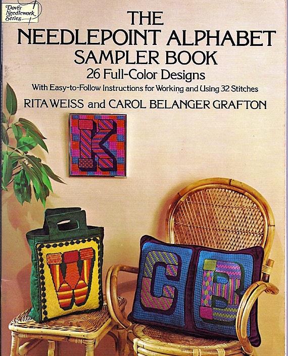 The Needlepoint Alphabet Sampler Book 26 Full-Color Designs