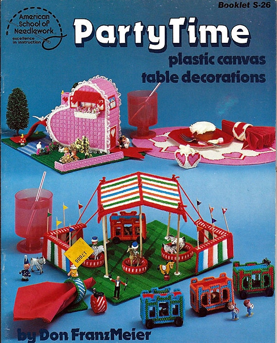 Party Time Plastic canvas Table Decorations ASN Booklet S-26