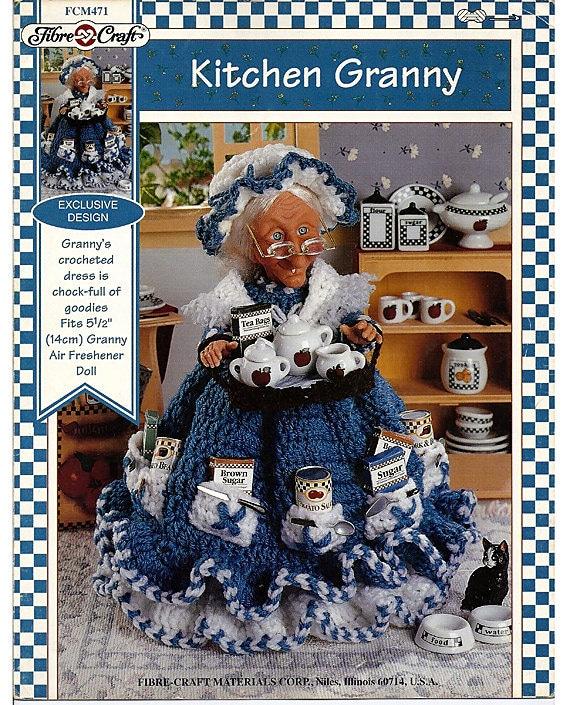 Kitchen Granny Air Freshener Doll Crochet Pattern Fibre Craft FCM 471