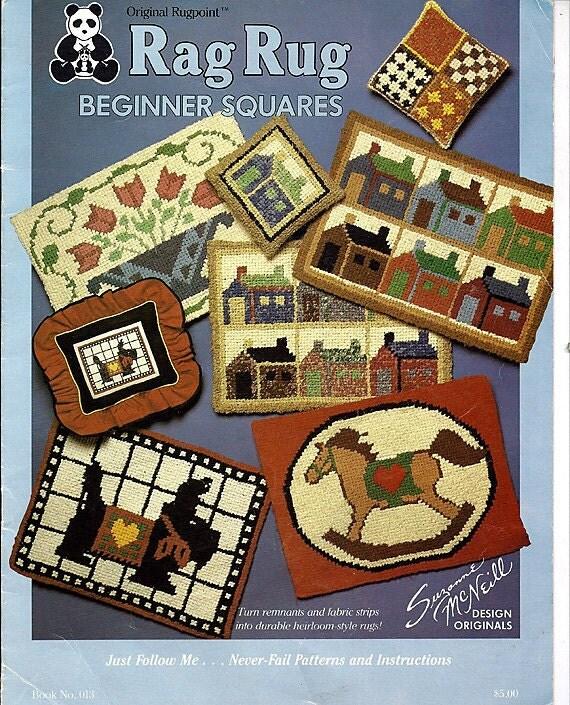 Rag Rug Beginner Squares Suznne McNeill Design originals Book no. 013