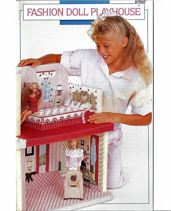 Fashion Doll Playhouse Barbie Plastic By Grammysyarngarden