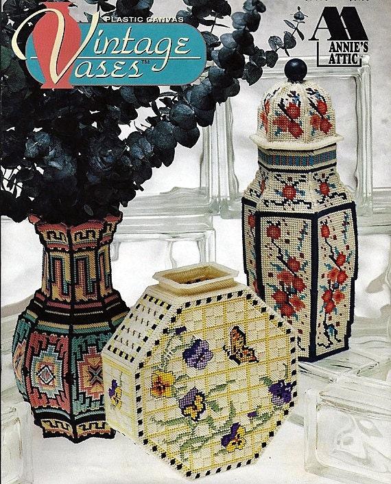 Vintage Vases Plastic Canvas Pattern  Annies Attic 87V75