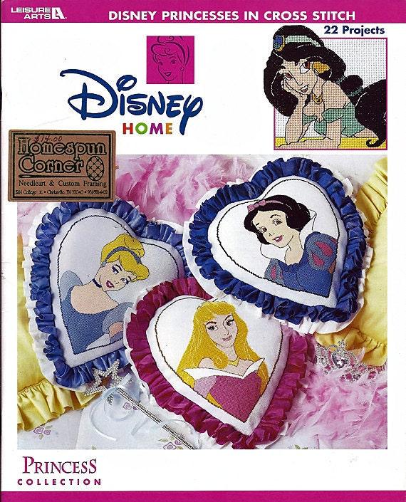 Disney Princesses in Cross Stitch Pattern Leisure Arts Leaflet 3396