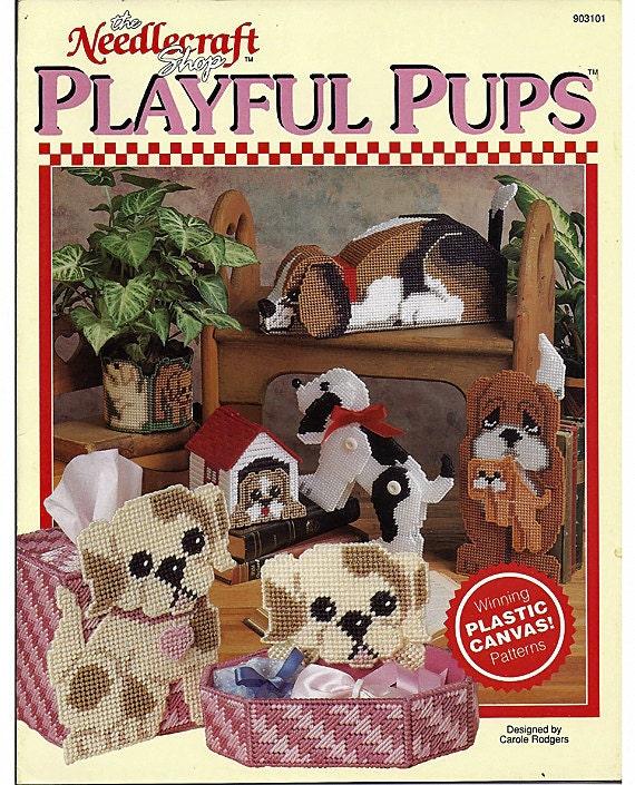 Playful Pups Plastic Canvas Pattern  The Needlecraft Shop 903101
