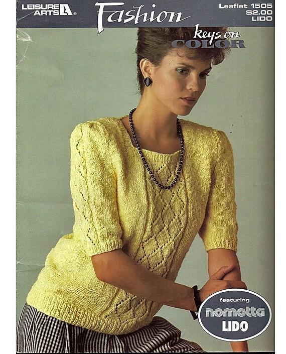 Fashion Nomotta Lido Knit Sweater Pattern Leisure Arts  1505
