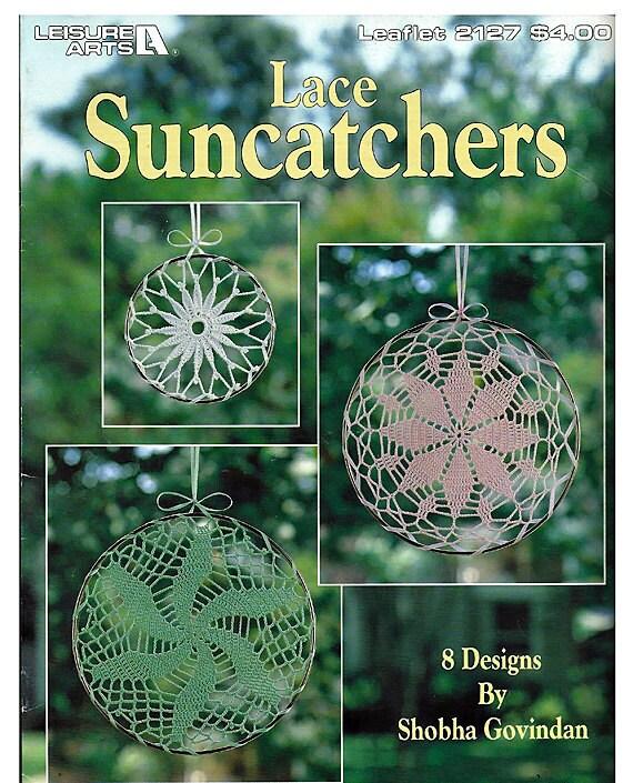 Lace Suncatchers Crochet Pattern Book Leisure Arts 2127