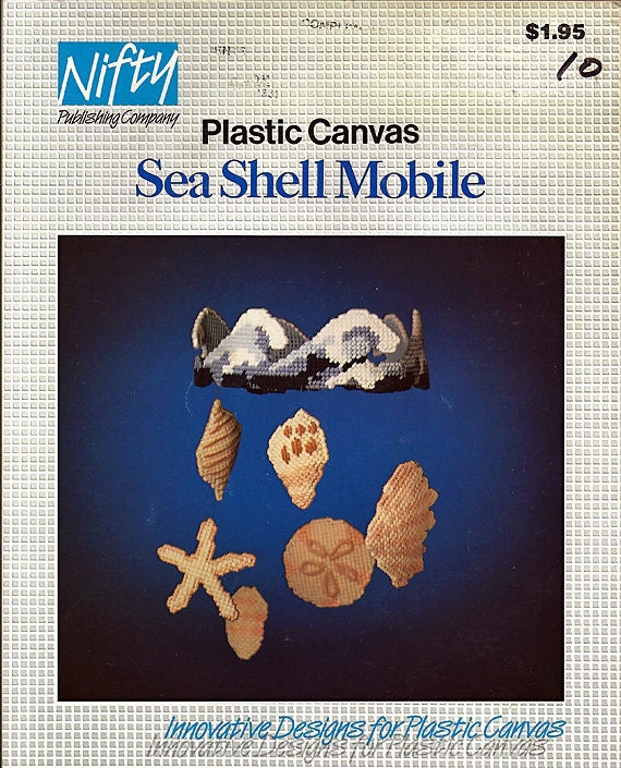 Sea Shell Mobile Plastic Canvas Pattern Nifty Publishing Co.