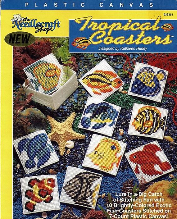 Tropical Coasters Plastic Canvas Pattern The Needlecraft Shop 933351