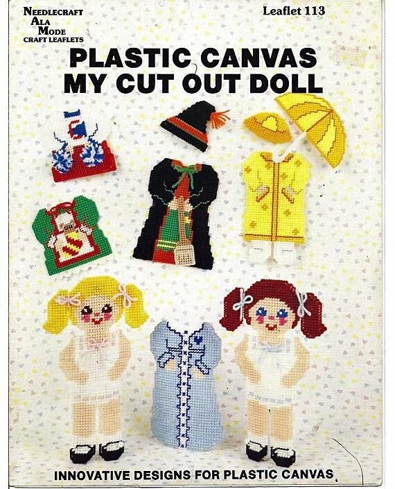 My Cut Out Doll Plastic Canvas Pattern Needlecraft Ala Mode Leaflet 113