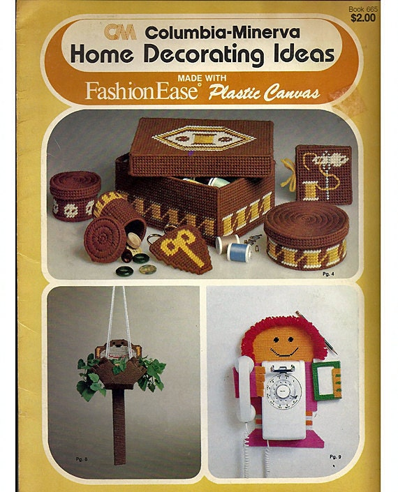home decorating ideas plastic canvas pattern columbia minerva book 665