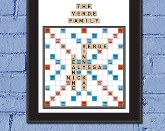 Family Game Night Custom 8 x 10 Canvas