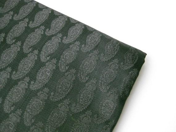 Custom listing for Marlin: black brocade. black paisley silk. black india silk. fat quarter nr. 43
