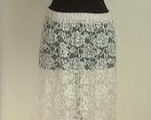 Vintage Sheer Floral Lace Maxi Dress