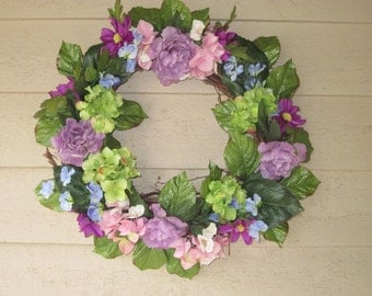 My Old Fashioned Dusty Rose Wreath