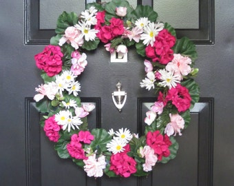 Pretty in Pink Door Wreath