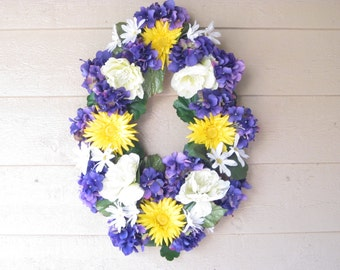 Pretty in Purple Door Wreath
