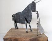 RESERVED for Lea: Mid Century Brutalist Table Sculpture, Bull & Matador, Spain SALE