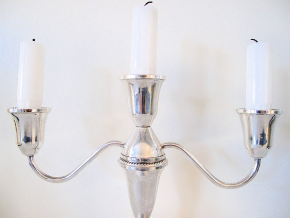 RESERVED: Sterling Silver Candelabra by Duchin 1950's