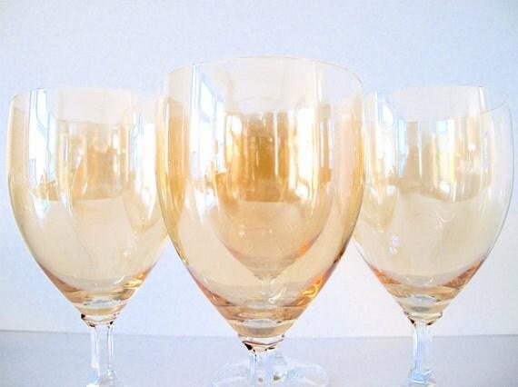 Set of Four Vintage Wine Glasses SALE