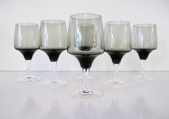 "Vintage Sasaki ""Harmony"" Crystal Cordial Glasses"