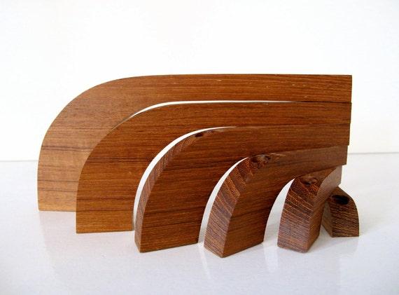 RESERVED: Danish Modern Teak Folding Candelabra
