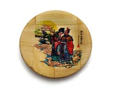 Free Shipping, Vintage Coasters- Bamboo (Set of Five)