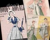 1950s Digital Download Vintage MODES ROYALE Pattern Catalog - 26 Pages Printable PDF