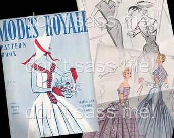 1950s Digital Download Vintage MODES ROYALE Pattern Catalog - 29 Pages Printable PDF