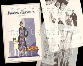 1920s Digital Download Vintage Modes et Travaux 1928 French Fashion Magazine Pattern Catalog - 32 Pages Printable Pdf