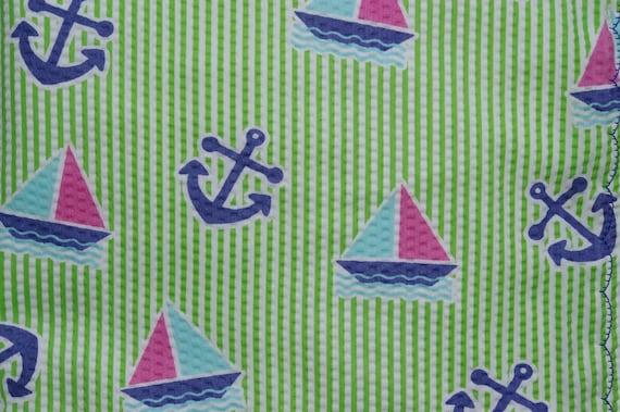 nautical baby blanket