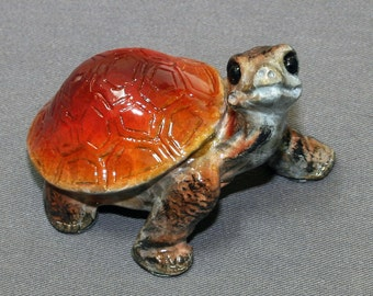"FANTASTIC BRONZE TURTLE ""Daden Jr. Turtle"" Tortoise Figurine Statue Sculpture Art / Limited Edition Signed & Numbered"