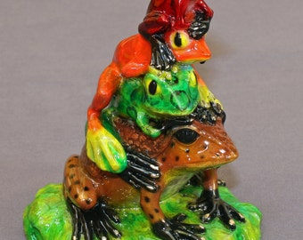 GORGEOUS BRONZE FROG Figurine Statue Sculpture Art  / Limited Edition / Signed & Numbered