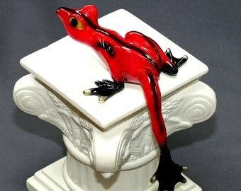 FANTASTIC BRONZE FROG Figurine Statue Sculpture Art / Limited Edition / Signed & Numbered